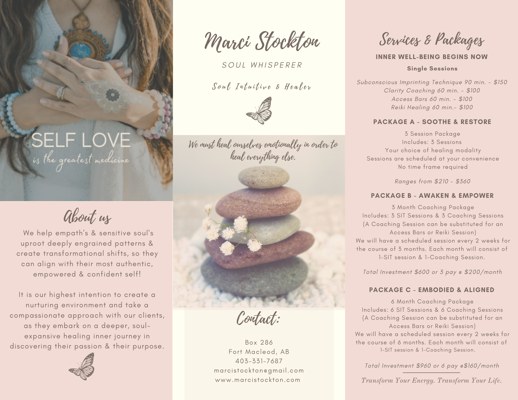Miracles by Marci Package Pricing